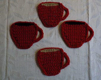 Crocheted Coffee Coasters - Set of 4