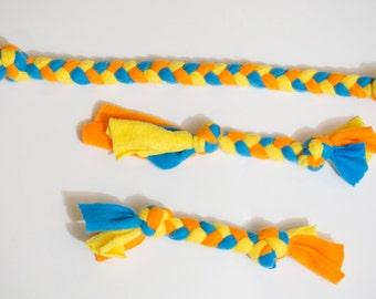 Dog Toy **Free Shipping** Fleece Rope - Fleece Dog Toy - Fleece Rope Toy - Tug Toy - Puppy Toy