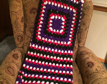 Beautiful, Vibrant Homemade Afghan