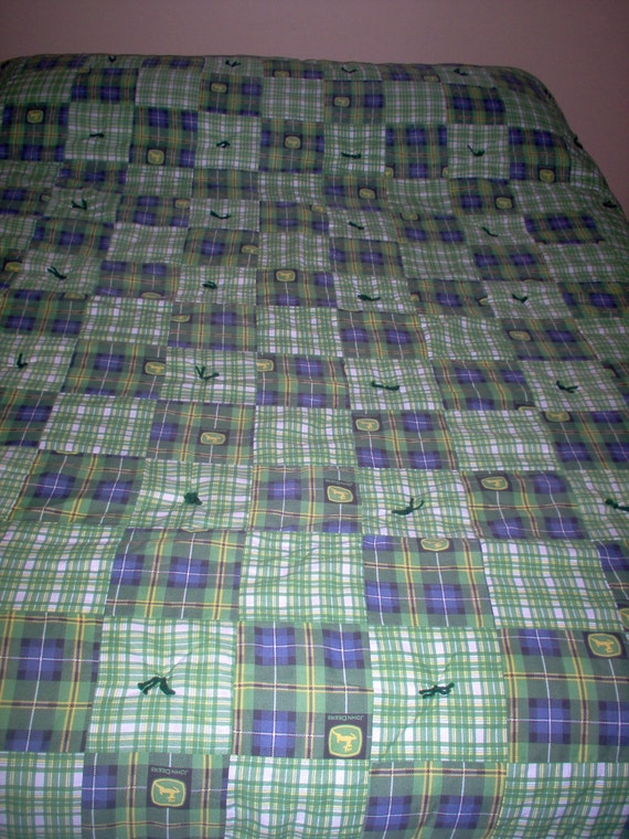 Jd Handmade Creations: Handmade Quilt Using John Deere Fabric