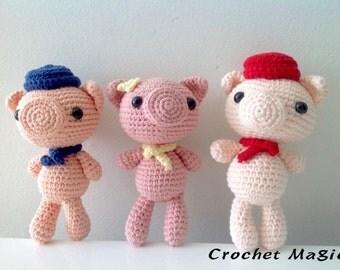 Three Little Pigs by Crochet