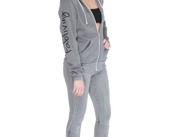 FABULOUS PEOPLE Fabliving Zip Hoodie (Eco Grey)