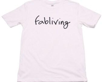 FABULOUS PEOPLE Fabliving Cotton Short Sleeve T-Shirt (WHITE)