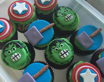 Super Hero Cupcake Toppers