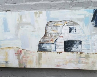 Barn Painting, Old Barn, Field