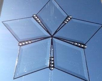 Hand Made Bevelled Glass Star