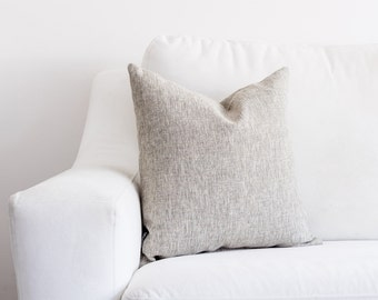 Light Grey Textured, Fully Washable, Hypoallergenic Complete Pillow
