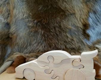 3d puzzle- wooden car