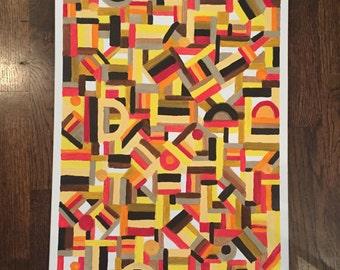 Original Abstract Wall Art 18x24