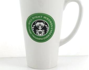 Sailor Moon 17 Ounce Ceramic Latte Coffee Mug