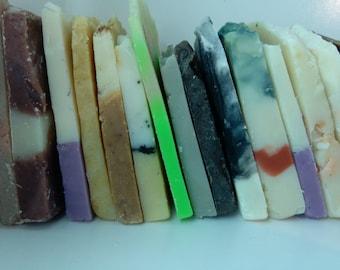 Soap Ends, 2 lbs of sample soaps, Vegan Soap, Soap Bundle, Soap Lot, Lots of Soap, Try Me Soap, Sample Size Soap, Travel Soap, Guest Soap,
