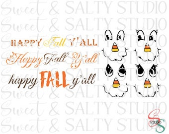 scarecrow template happy fall y'all digital file