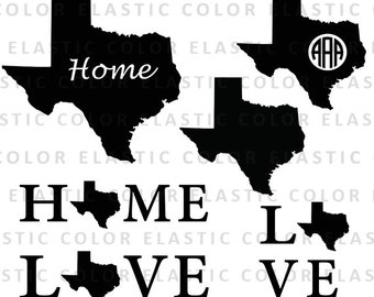 Texas states svg  files  - texas  clipart  digital download vector files svg, png, dxf, eps