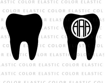 Tooth svg, tooth monogram svg - tooth clipart - teeth digital download svg, eps, dxf, png