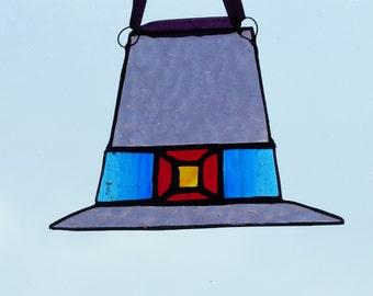 Lilac Hat suncatcher