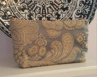 Elegant Blue Cosmetic Bag