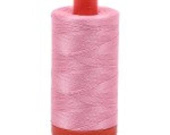 Bright Pink Aurifil Mako Cotton Thread Color 2425, 50 wt, 1300m