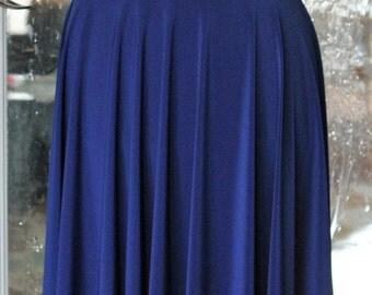 Royal Blue Circle Skirt - Knee Length