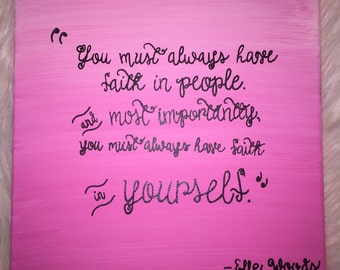 Elle Woods quote canvas