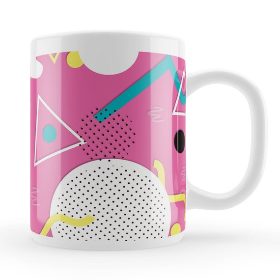 Pink Abstract 80s Memphis Mug