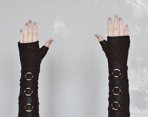 Frisky Elbow Length Leather Fingerless Gloves
