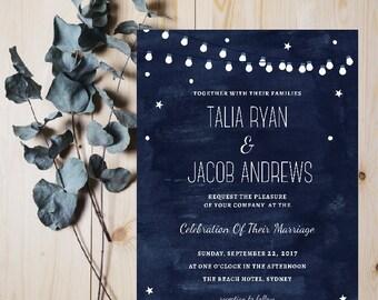 Starry Nights Wedding Invitation | Digital File