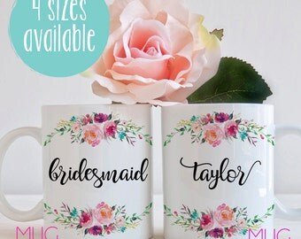 Custom Bridesmaid Mug, Bridesmaid Gift, Gift for Bridesmaid, Maid of Honor Gift, Matron of Honor Gift, Bridal Party Gifts, Gifts For Bridal