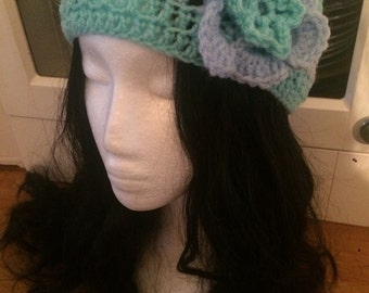 Crochet headband dreadband ear warmer hippie festival
