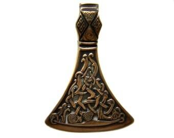 Hacha (1) talismán de Slavic colgante bronce joyería joyería Eslava Perun símbolo pagano colgante colgante hacha de vikingo escandinavo hacha celta de Viking