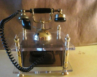 Small Music Box Old Style Telephone Handset