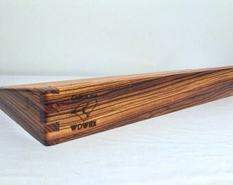 Carolina WDWRX 24x12.5 Wood Pedalboard - Zebrawood / Cherry Wooden Pedaltrain Style Pedal Board