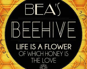 Custom Beehive Sign Digital Download