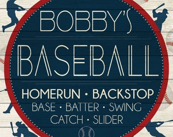 Custom Baseball Sign Digital Download