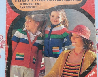 Vintage original 1970s 1976 Woolworths Knitting and Crochet Magazine Issue 7 adverts