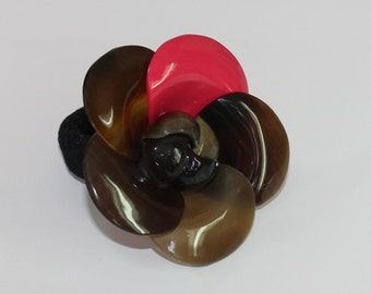 Horn jewelry - Horn lacquer brooch - buffalo horn lacquer brooches  - KAI-6677