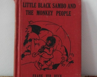 Little Black Sambo and the Monkey People, Wee Books for Wee Folks vintage book