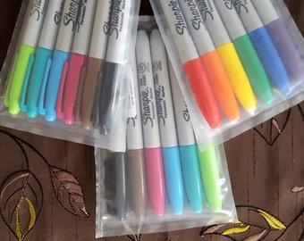 Sharpie fine point coloured pens