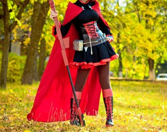 RWBY - Ruby Rose Cosplay Costume Crescent rose larp Craft
