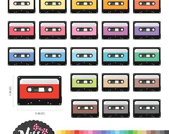 Cassette Clipart - Instant Download