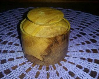 Fiddle Wood Lidded bowl