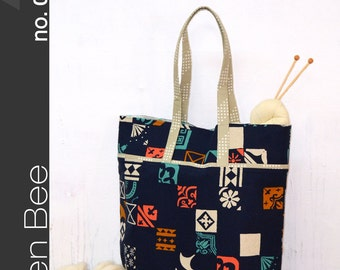 Green Bee Patterns - The Market Bag