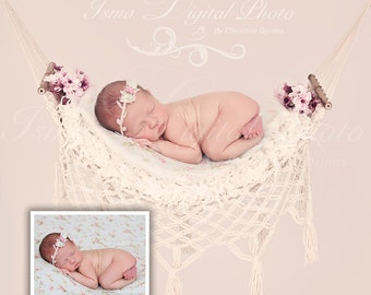 Digital Newborn props Download Photography studio ( Hammock With Light Background )