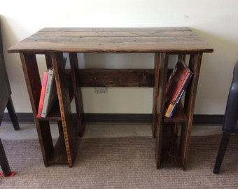 Solid reclaimed wood custom built desk