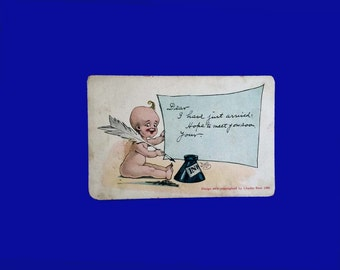 Baby Announcement old Postcard 1906 no name filled in, you fill it in