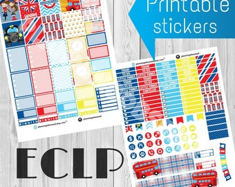 SALE 25% OFF/ Erin Condren London printable sticker / planner stickers /erin condren printable stickers/ London printable stickers/ London