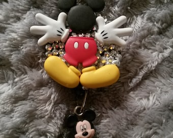 Mickey mouse retractable badge reel