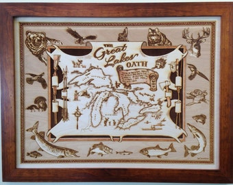 Great Lakes Wood Map