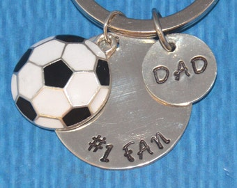 Soccer Dad   Soccer Gifts   Soccer Dad Keychain   Soccer Dad Gifts   Gift for Dad   Dad Gifts   Dad from Son   Dad from Daughter   Soccer