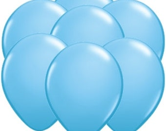 FAST SHIP 12 Baby Blue Balloons, Blue Birthday Party Balloons,  Baby Blue Latex Balloons, Baby Blue Baby Shower Balloons, Blue Party Decor