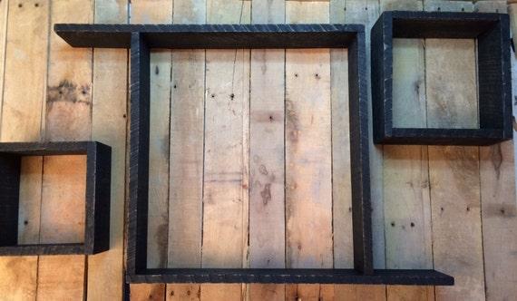 Wood Box Shelves,Shadow Boxes, Floating Shelves, Storage Shelves, Rustic Shelf, Shelving, Shelves, Reclaimed Wood Wall Shelves, Set of Three